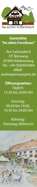 Gaststätte Im Alten Forsthaus - Haldenwang